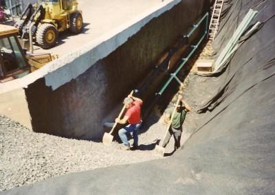 Concrete Retention Wall
