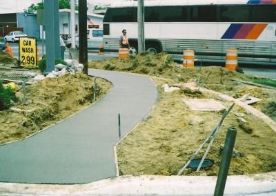 Concrete Sidewalk Installation